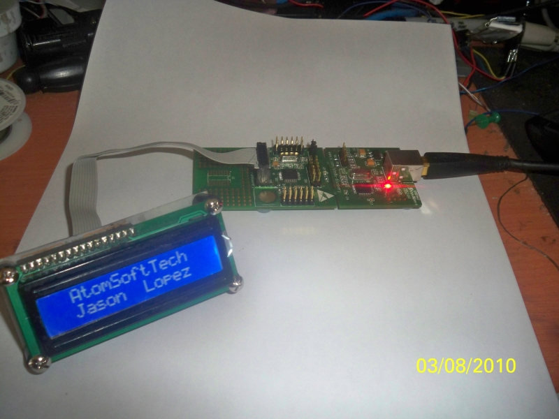 LCD on STM8S Discovery   AtomSoftTech