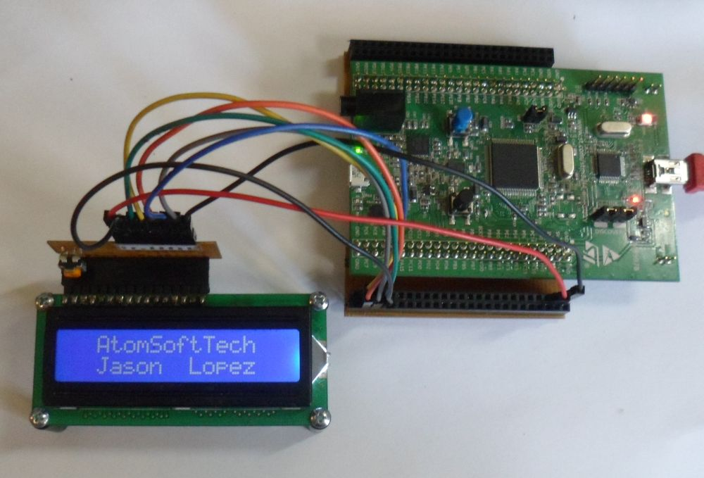 STM32F4 with Character LCD | AtomSoftTech